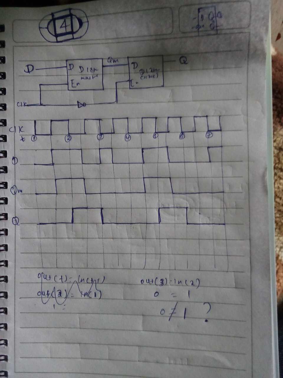 d flip flop logic circuit
